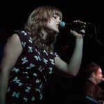 Anna Bulbrook with the Airborne Toxic Event