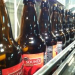 Howe Sound Brewing production line photo.