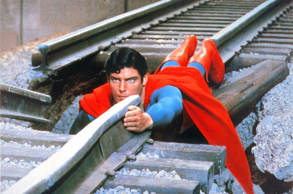 Christopher Reeve in Superman: The Movie (1978).
