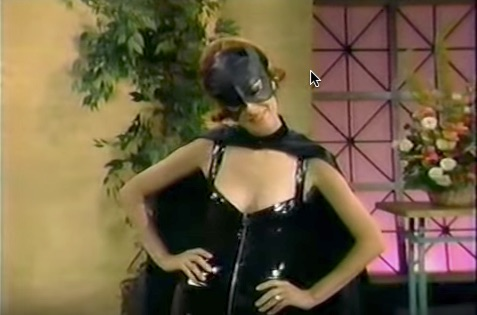 Sean Young as Catwoman on Joan Rivers 1991